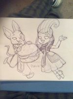 Whis and Beerus by MaryBellamy