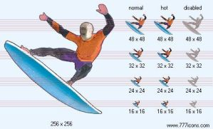 Surfing Icon by sport-icons