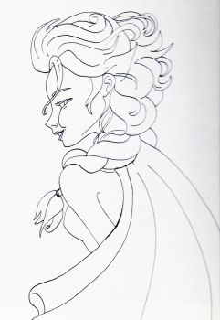Unofficial Frozen Coloring Book Elsa Looking Back by MyThoughtsAreDeep