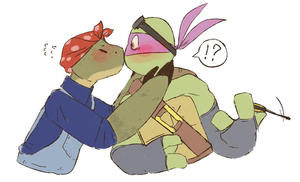 First kiss by MeWi-or-Lara