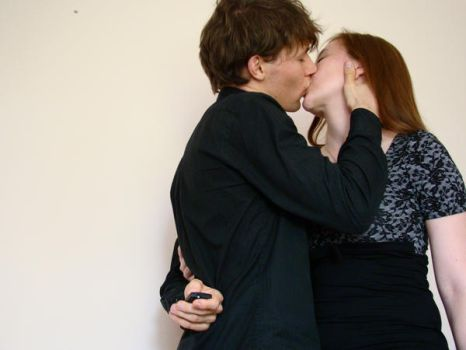 kissing couple by hermiona1988-stock