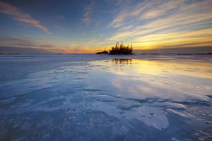 Winter at Mamainse Point by tfavretto