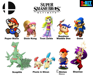 My Choice of Newcomers for Smash Bros. Ultimate by PxlCobit