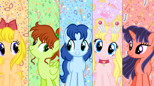 Moon Prism and the Sailor Scouts by WishingWellBro