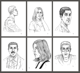 The Pros Kickstarter original drawings reward by besnglist