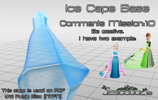 MMD Ice Cape Base DOWNLOAD by SnowyTime