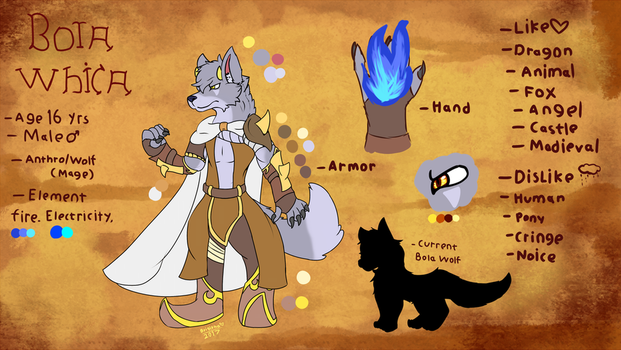 Bola Whica (Updated Anthro Reference) by FanDragonBrigitha