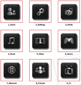 PS3 Homerow Iconset Wooden Bla by EffECKTz