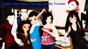 MMD ~ Happy NewYears from Me and my Friends! by dalton2192