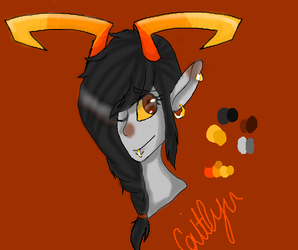 Bronze blood fantroll adopt (headshot) by TheOperatorsShadow
