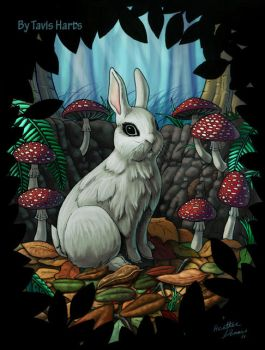 White rabbit by tavisharts