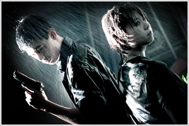 In the Rain:Yamamoto and Tsuna by SoySauceCosplay
