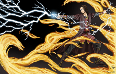 Master of Lightning and Fire by Draethius