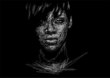 Rihanna in Ngawor Drawing by viqh