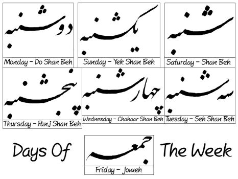 Days Of The Week by DannI-