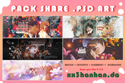PACK SHARE PSD ARTWORK by xx3hanhan