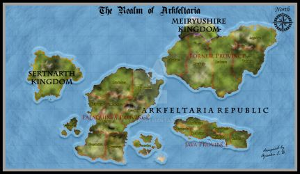 Arkfeltaria - Atlas Map Style (First Trial)