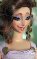 Disney Keepsake Megara doll repaint 1 by kamarza