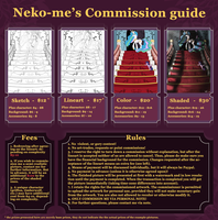 Commission Guide - Commissions are OPEN! by Neko-me