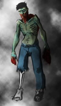 Zombie self colored by pityu101