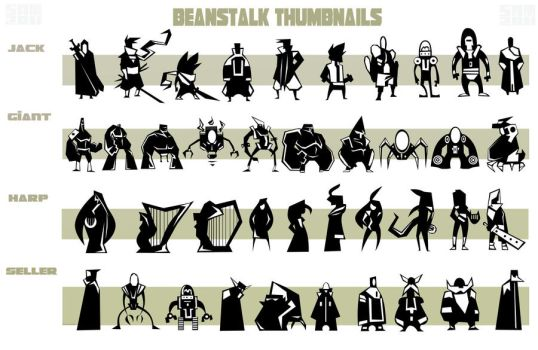Beanstalk Character Thumbnails by Tigerhawk01