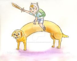Adventure Time in Watercolour by HalianFromPlanetZork