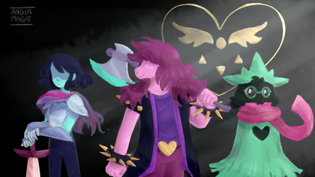 deltarune by AngiaMagie