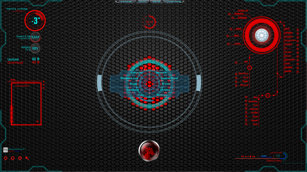 Rainmeter Future Red,Teal and Blue by ice232