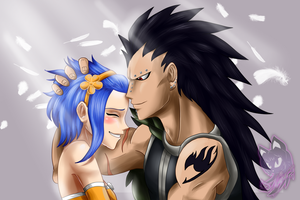 Gajeel and Levy by NeylaTL