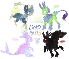 briarling adopt batch: CRYPTID PARTY (closrd) by saturnstrings