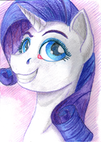 Rarity Portrait by Sa1ntMax