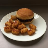 Burger and Tots by lonermade