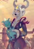 Lightforged Draenei with Argi by ipheli
