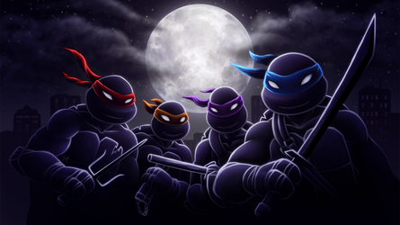 Stealthy Turtles Wallpaper by MissNysha