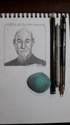Captain Picard sketch materials by kinow