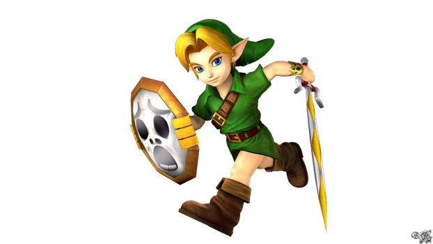 Young Link's Smash4 Menu Inspired Pose by S3BurningRose