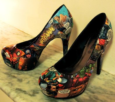 Comic Book Shoes. by Not-A-Prodigy