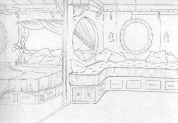 Room View: Escort Cabin by silvertales