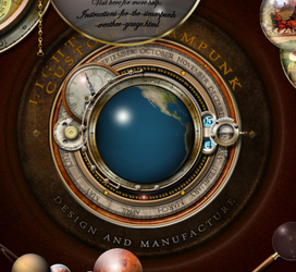 Steampunk Rotating Earth Widget by yereverluvinuncleber