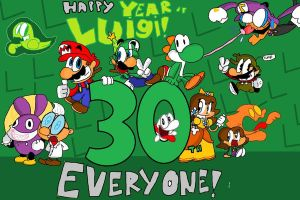 Happy Year Of Luigi Everyone!!! by ChrisTheTanookiGod