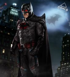 Jeffrey Dean Morgan Flashpoint Batman  by SavageComics