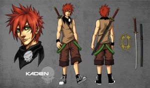 SIN Character sheet: Kaden by Quirkilicious