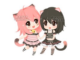 :c: Mimi and Momo by bablih