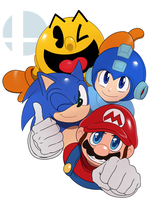 Red,Blue and Yellow by ss2sonic