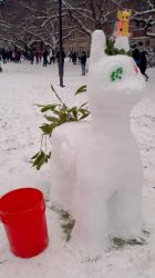 Life-size Snow Pony: Forest Bass by dutchscout