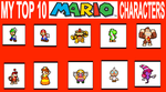 My Top 10 Favortie Mario Characters by BeeWinter55