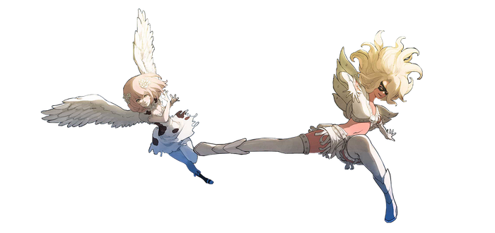 Kali and Durga Angel Gravity Rush 2 PNG by GamingDeadTv