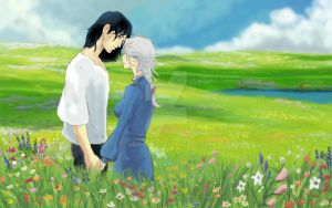 Howl and Sophie Speed Paint by TheOneiroi