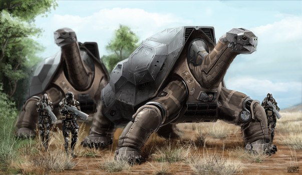 Mech Turtle by Rofelrolf