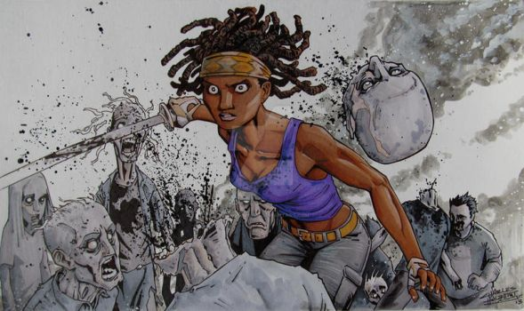 Michonne by KidNotorious